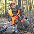 Another whitetail my wife shot on our property with muzzleloader