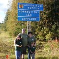 My family on a fishing  holiday in Lappland - Lomtrask. I