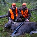 Happy moment; Jesper's first moose ever. From the first drive of our moose season.