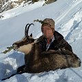 My exchange-partner from Canada shot a very old female chamois